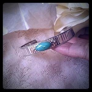 Vintage Sterling & Turquoise Cuff Bracelet